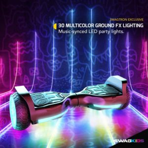 Swagtron Swagboard Vibe T580 Hoverboard 3d Multicolor Lighting
